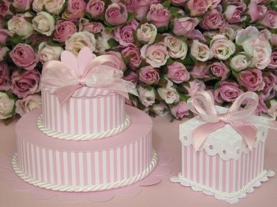 Cake e mini cake rosa