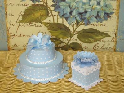 Cake e mini cake celeste