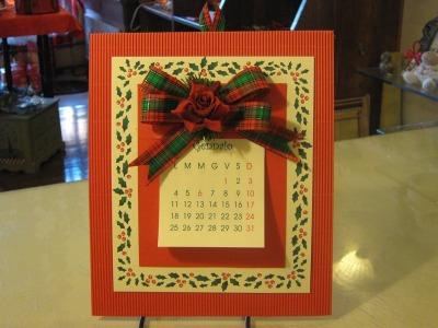 Calendario rettangolare