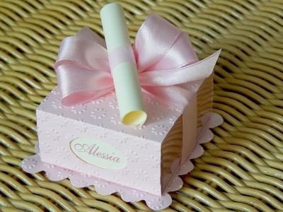 Scatolina cake rosa e celeste modello B